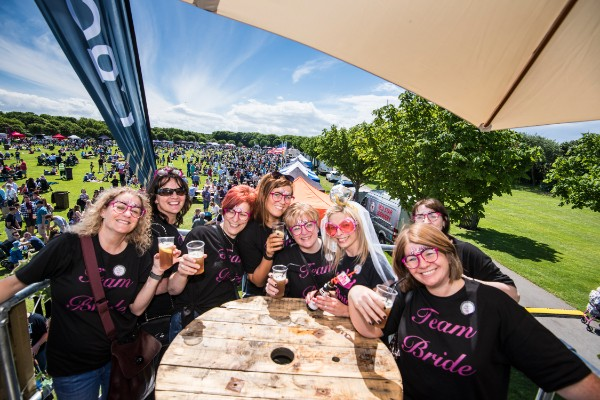 A hen party celebrating at the Southport Food and Drink Festival